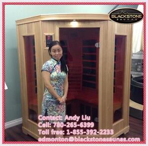 2-3 person corner two sauna on sale $2699, this is the most popular sauna among our saunas, we have two sizes