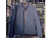 Navy Mens Zara Puffer Jacket XL