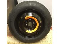 Fiat punto space saver wheel and kit. Spare wheel 54 plate 2004/2005