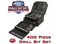 NEW 400 piece drill bit set makita dewalt bosch gift handy trade parts bit drill organiser driver