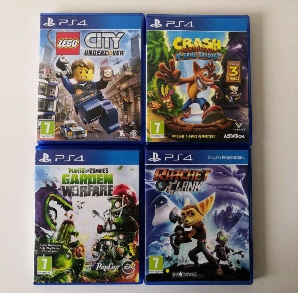 4 PS4 Games [Crash Bandicoot, Ratchet Clank, Lego City & Plants Vs Zombies]  | in Bolton, Manchester | Gumtree