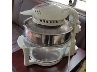 Large Halogen Oven with Hinged Lid an extender ring to make enlarge the cooking area