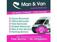 MAN AND VAN HIRE £20P/H