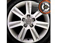 "17"" Genuine Audi A4 SE alloys fair condition with good tyres."