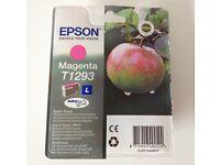 INK FOR EPSON PRINTER GENUINE BRAND NEW SEALED T1293 L MAGENTA
