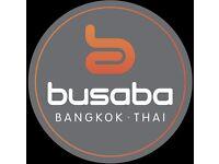 Waiting staff for Busaba Bangkok Thai Restaurants across the West end