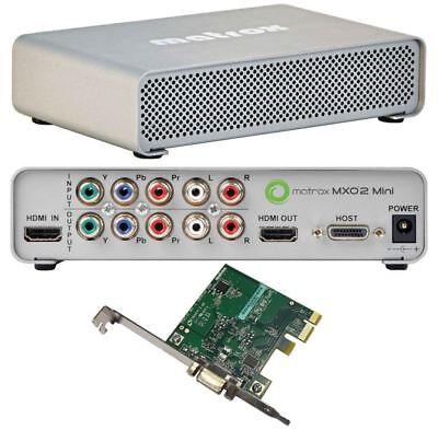 Matrox MXO2 Mini HD Video Capture box w/PCI-E card + universal power adaptor