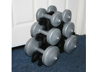 6 dumbbells (dumbbell tree)