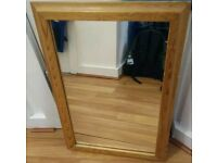 Wooden frame rectangular shape mirror