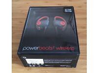 *NEW SEALED* Beats by Dr. Dre Powerbeats2 Wireless Earphones SIREN RED RRP 169.95