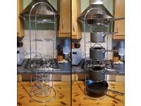 Kitchen pot storage tower rack