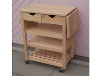 Hevea Wood, or Rubberwood, Butcher's Trolley