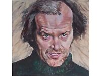 """Original Acrylic Painting of Jack Nicholson from """"The Shining"""" 70x70cm canvas"""