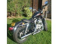 Harley Davidson XLH 883 Sportster, Black & Chrome , Low Milage, Excellent Condition