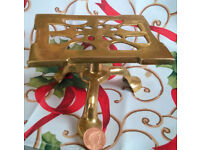 vintage brass adjustable display stand