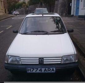 Peugeot 205, low insurance, 6 months MOT, full service history. £175.