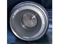 Nikkor AF50mm 1.8D Prime lens