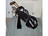 Ladies Lynx Tigress set of golf clubs with standbag and towel.