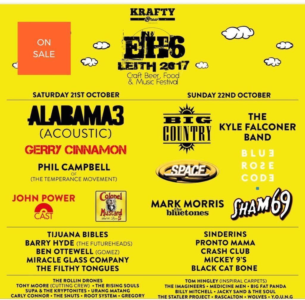 EH6 Festival , Leith , Edinburgh TICKETS for 2 ; for both days