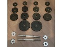 YORK Cast Iron Dumbbell Set Totalling to 30kg for Sale in Liverpool.