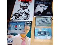 JAMES BOND;3 CARS FROM JB COLLECTION; 2BOOKS; COLLECTED COMIC STRIPS; VOLUME 3 AND PHOENIX PROJECT
