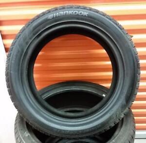 (ZH23) 1 Pneu dHiver - 1 Winter Tire 215-50-17 Hankook 11/32 (Neuf - New)