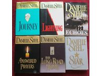 DANIELLE STEEL - 6 h/back books, STAR, LIGHTNING, JOURNEY, ANSWERED PRAYERS, LONG ROAD HOME, ECHOES