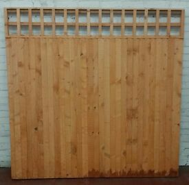 6'x6' closed board fence panels for sale with trellis top