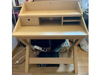 Desk Bought from Next. Light Oak. Table Desk or Tiered.