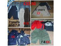 boys clothes 6 years, 6-7 and 7 years and 7-8 years,shorts