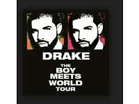 Drake tickets for sale- 2X GOLDEN CIRCLE 14TH FEB-LONDON O2