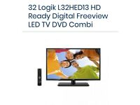 """LOGIK 32"""" lcd tv with built in DVD player"""