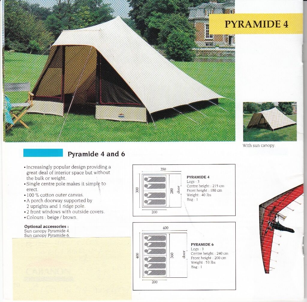 Cabanon Canvas Tent u0027Pyramide 4u0027 Four Berth  sc 1 st  Gumtree & Cabanon Canvas Tent u0027Pyramide 4u0027 Four Berth | in Morpeth ...