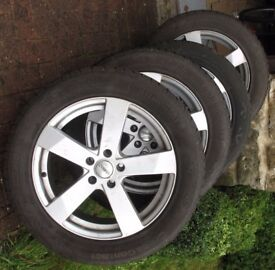Continental winter tyres for Audi A6 - 6000 miles usage. Fitted to alloy rims