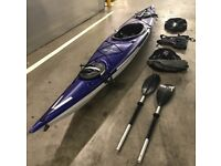 Sea Kayak, 140 Elie Straight Elite Series, 420cm length 14', Spray Deck, Cover, Paddle, Buoyancy Aid