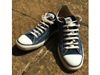 MEN'S NEARLY NEW CONVERSE ALL STARS SIZE 11 NAVY BLUE ALL STAR TRAINERS SNEAKERS SPORT SHOES ELEVEN