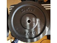 2 x 20kg Cast Iron DKN Weight Plates