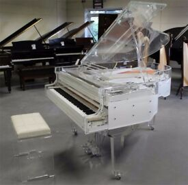 BRAND NEW CRYSTAL TRANSPARENT CONCERT GRAND PIANO!