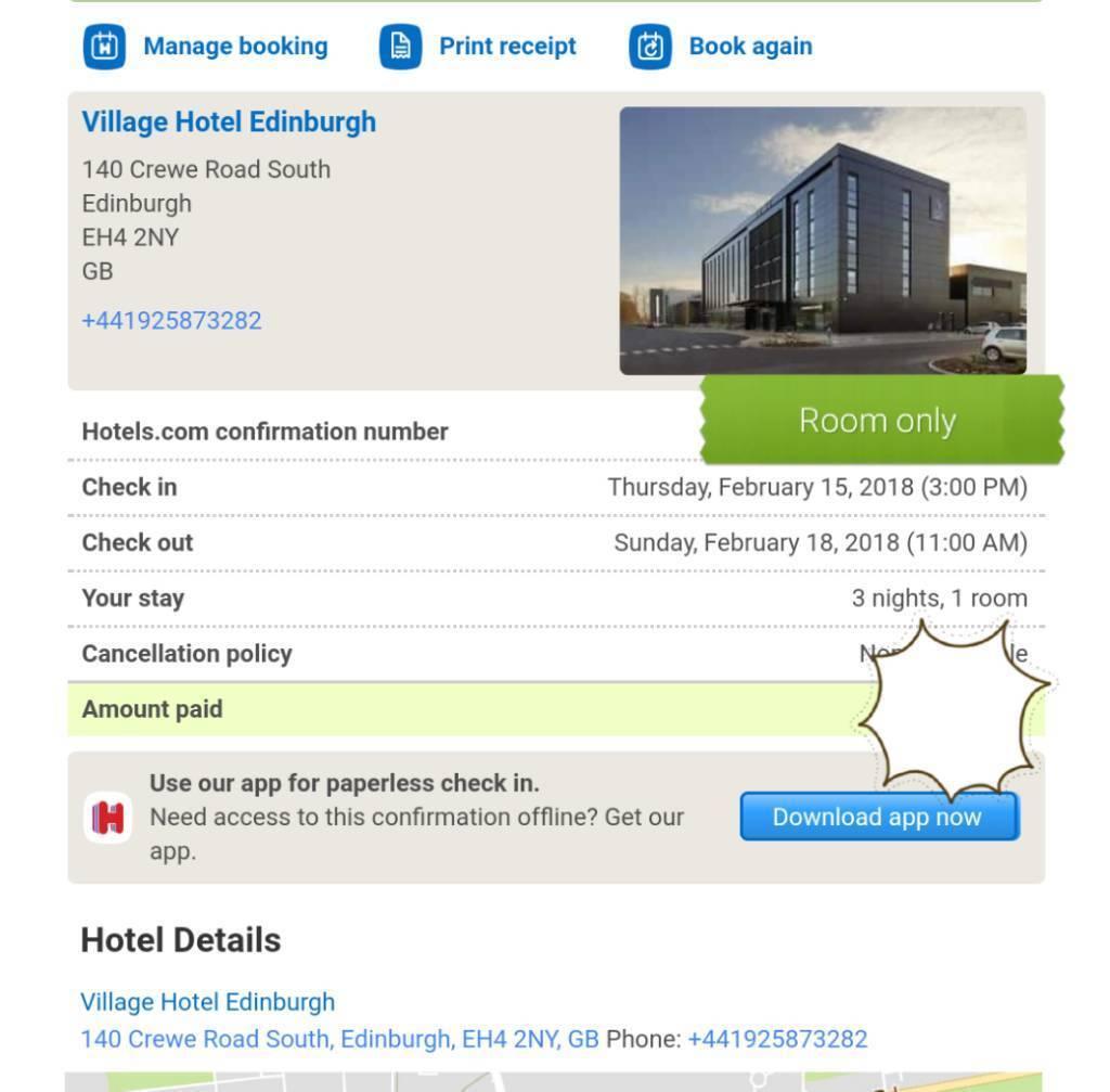 Hotel break for Valentine's