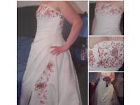 For sale wedding dress size 14
