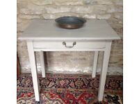 Beige Console Table