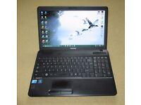 "Toshiba 15"" laptop Core2Duo T9600 2.8GHz, 4GB RAM, 320GB HDD, Windows 10"