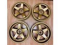 Alloy wheels. Rota gtr d alloys. Refurbished.