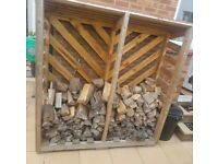 Log store with tiled roof (logs included)