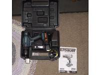 Erbauer 18v cordless combi drill