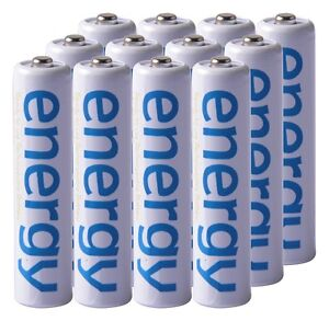12x White Color 2000mAh 1.2V  3A AAA Ni-Mh Energy Rechargeable Battery MP3 RC