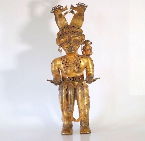 ORIGINAL COLOMBIAN GOLD COPPER TAIRONA TUMBAGA 20 INCH 5 POUND SHAMAN QUEEN
