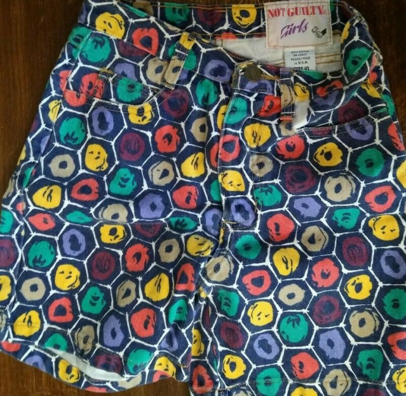 90s Vintage Not Guilty Girls Jean Shorts Sz10 Proudly Made in the USA Pristine