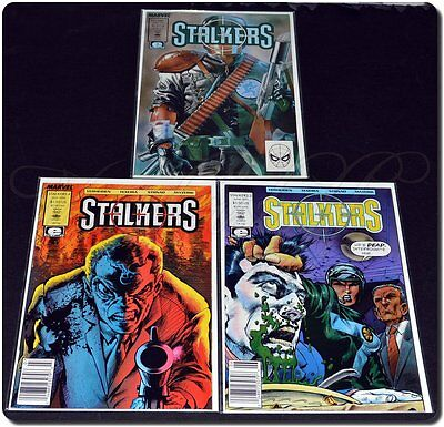 Marvel / Epic Comics Stalkers # 1, 3, 4 - Purchased New then Bagged w/ Board, Ex