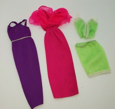 Vintage Barbie 70s 80s Best Buy TLC Fashions Dresses Top Skirt Lot